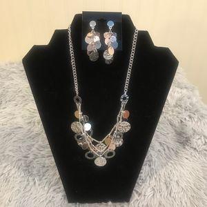 Nine West Necklace & Earring Set